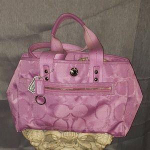 NWOT Coach Daisy Signature pink satchel purse